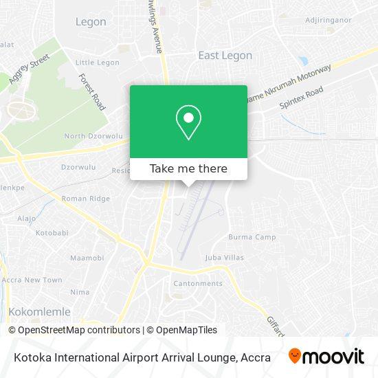 Kotoka International Airport Arrival Lounge map