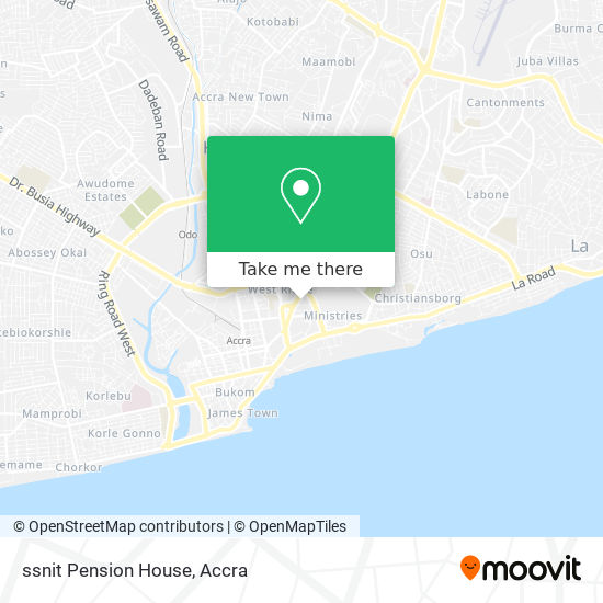 ssnit Pension House map