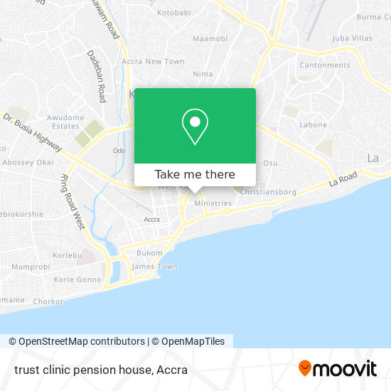 trust clinic pension house map
