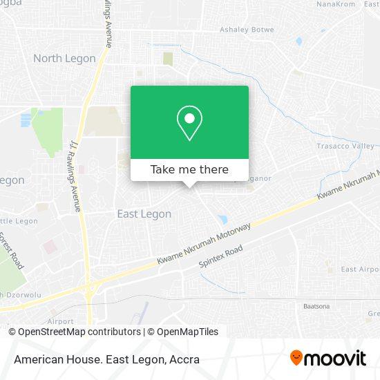 American House. East Legon map