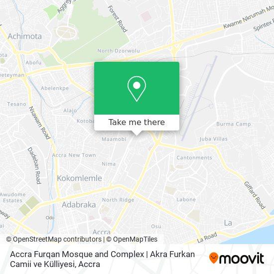Accra Furqan Mosque and Complex   Akra Furkan Camii ve Külliyesi map