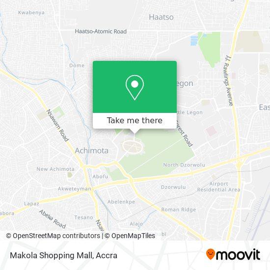 Makola Shopping Mall map