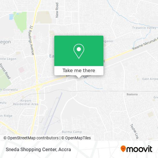Sneda Shopping Center map