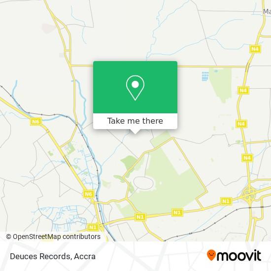 Deuces Records map