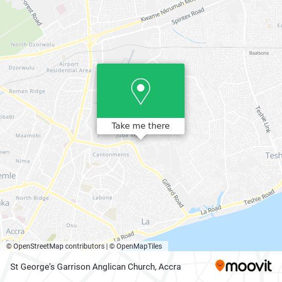 St George's Garrison Anglican Church map