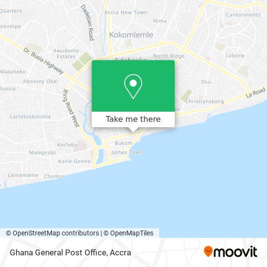 Ghana General Post Office map