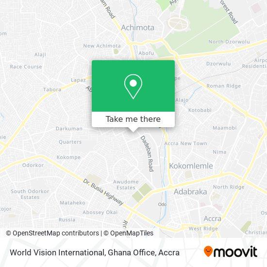 World Vision International, Ghana Office map