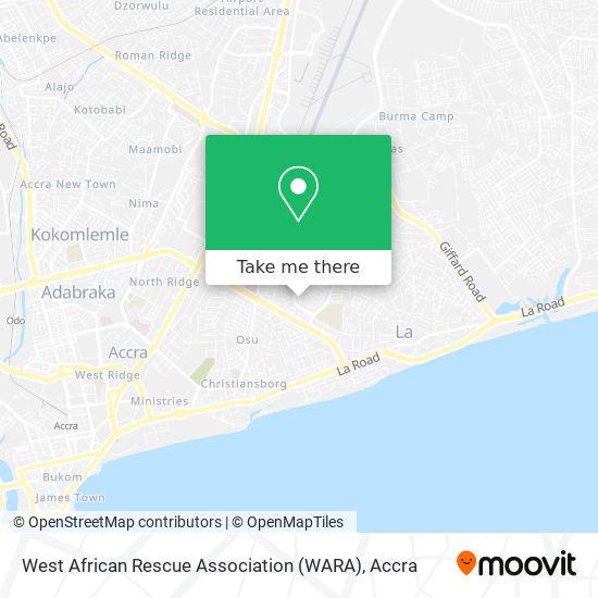 West African Rescue Association (WARA) map