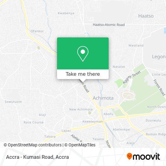Accra - Kumasi Road map