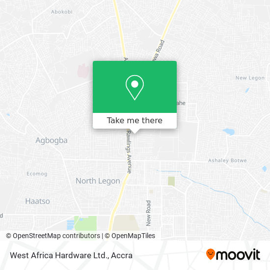 West Africa Hardware Ltd. map