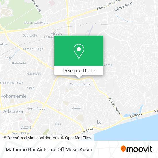 Matambo Bar Air Force Off Mess map