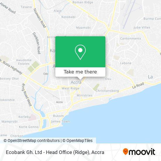 Ecobank Gh. Ltd  - Head Office (Ridge) map