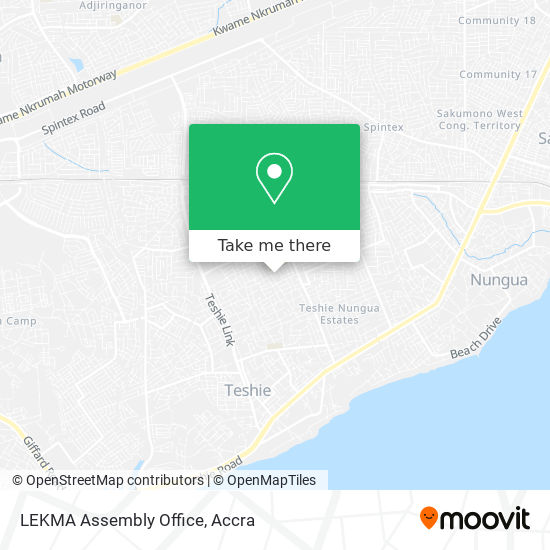 LEKMA Assembly Office map