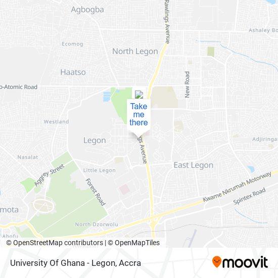 University Of Ghana - Legon map