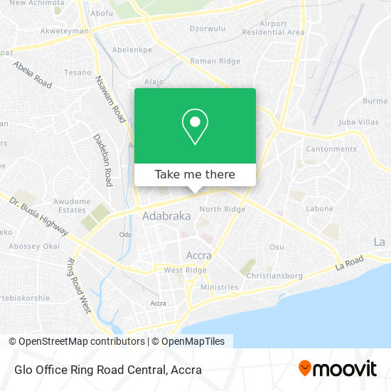 Glo Office Ring Road Central map