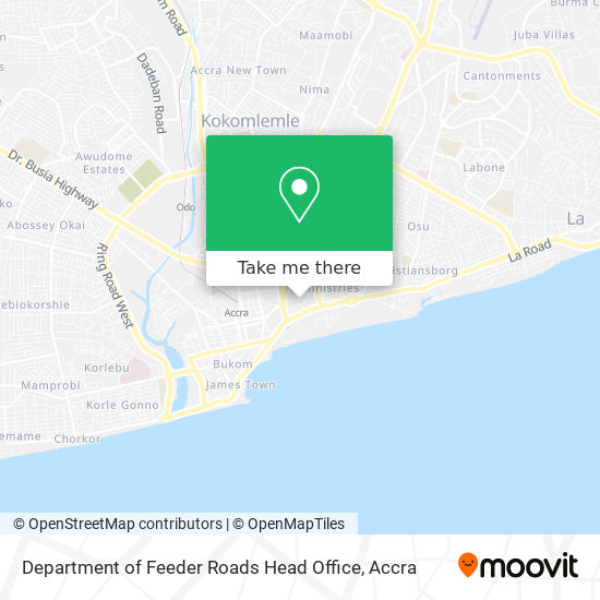 Department of Feeder Roads Head Office map