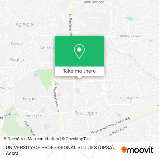 UNIVERSITY OF PROFESSIONAL STUDIES (UPSA) map