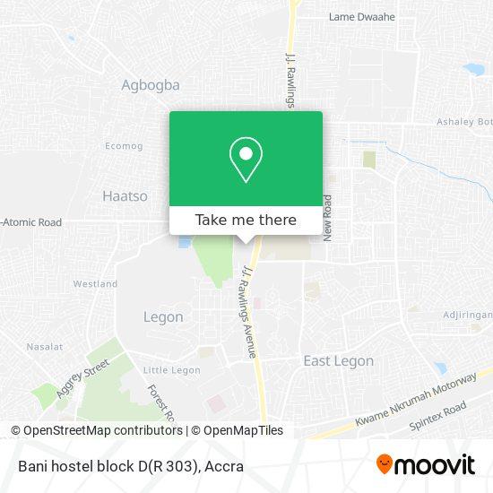 Bani hostel block D(R 303) map
