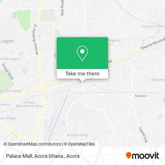 Palace Mall, Accra Ghana. map