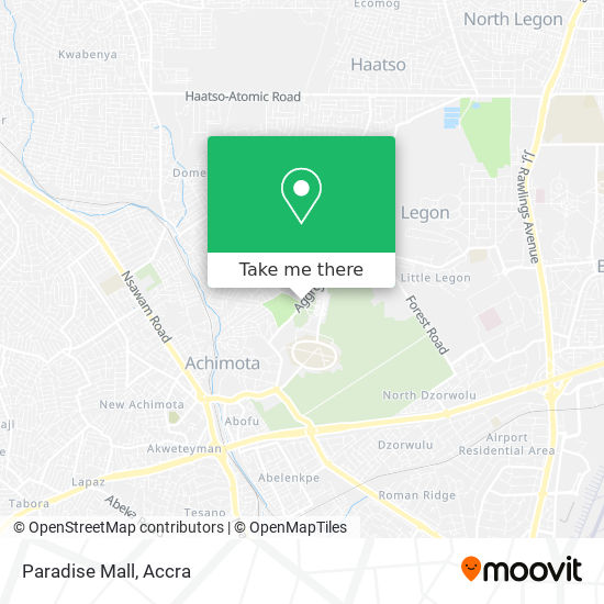Paradise Mall map