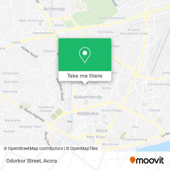 Odorkor Street map