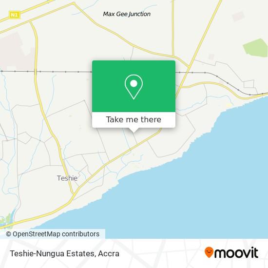 Teshie-Nungua Estates map