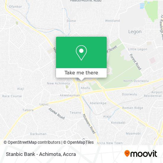 Stanbic Bank - Achimota map