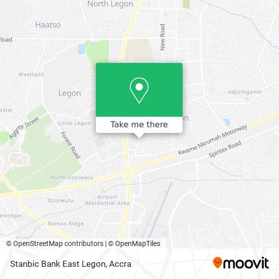 Stanbic Bank East Legon map