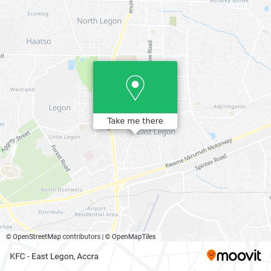 KFC - East Legon map