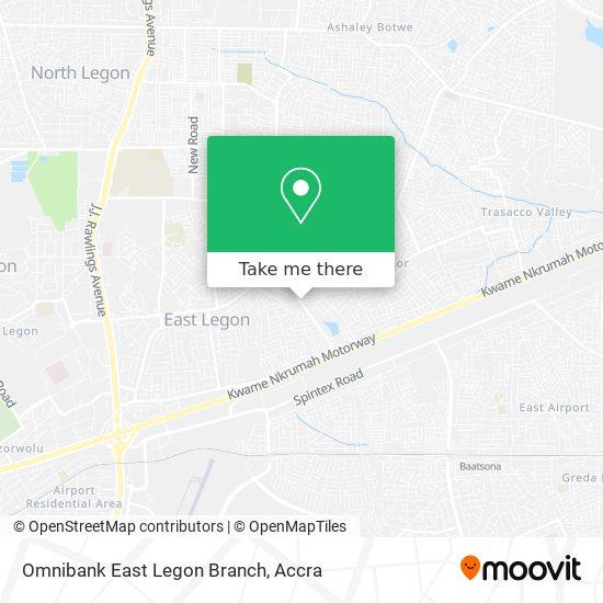 Omnibank East Legon Branch map