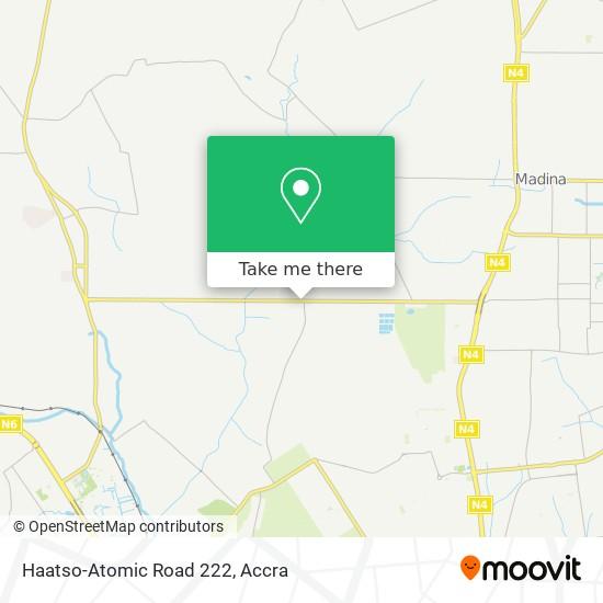 Haatso-Atomic Road 222 map