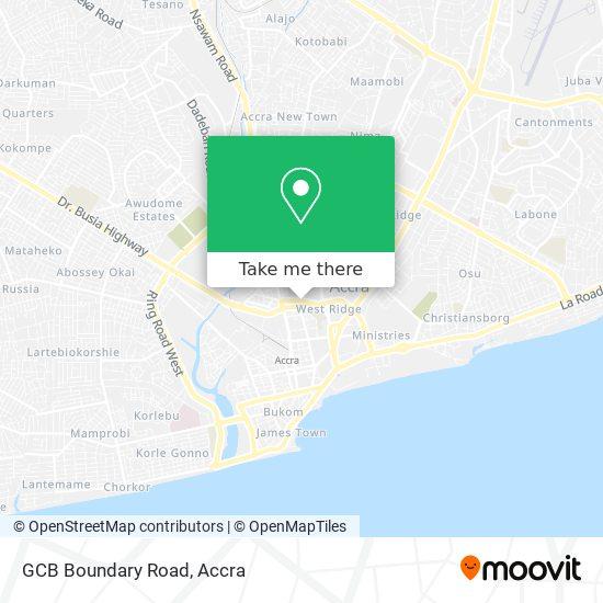 GCB Boundary Road map