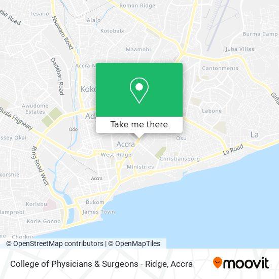 College of Physicians & Surgeons - Ridge map