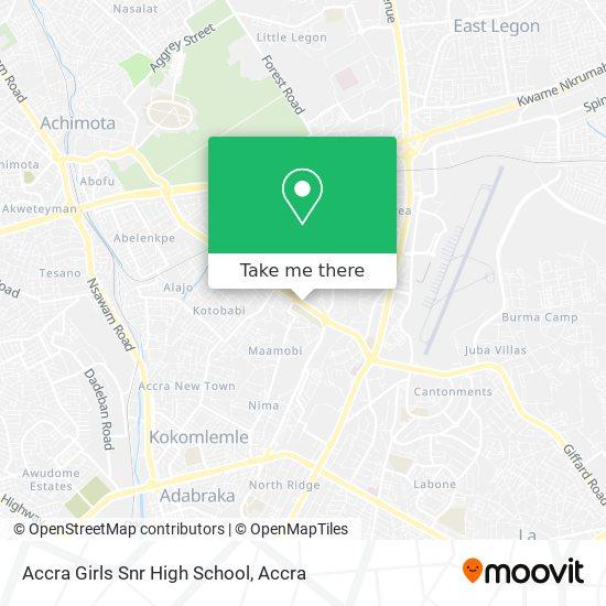 Accra Girls Snr High School map