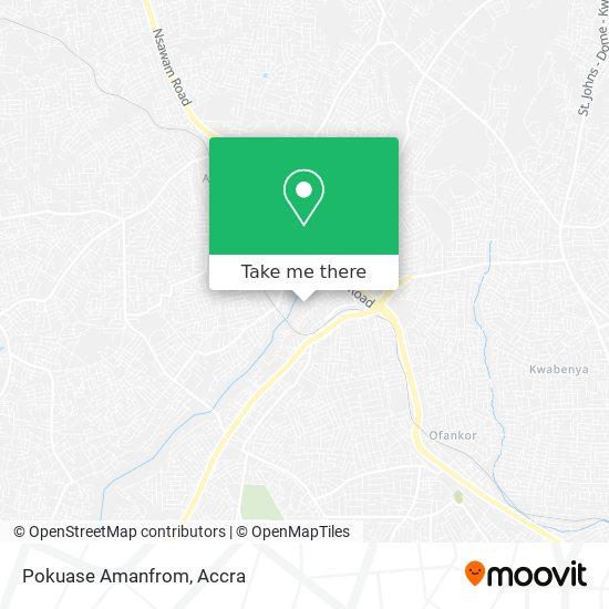 Pokuase Amanfrom map