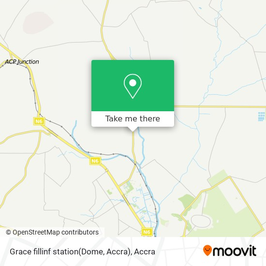 Grace fillinf station(Dome, Accra) map