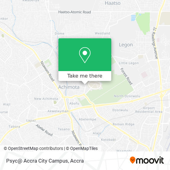 Psyc@ Accra City Campus map