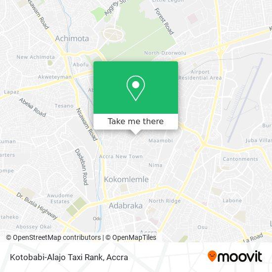 Kotobabi-Alajo Taxi Rank map