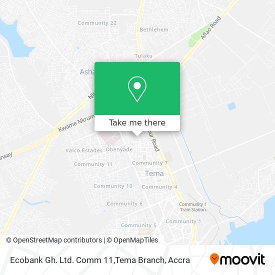 Ecobank Gh. Ltd. Comm 11,Tema Branch map