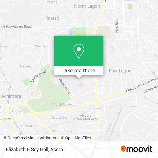Elizabeth F. Sey Hall map