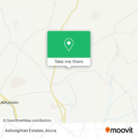 Ashongman Estates map
