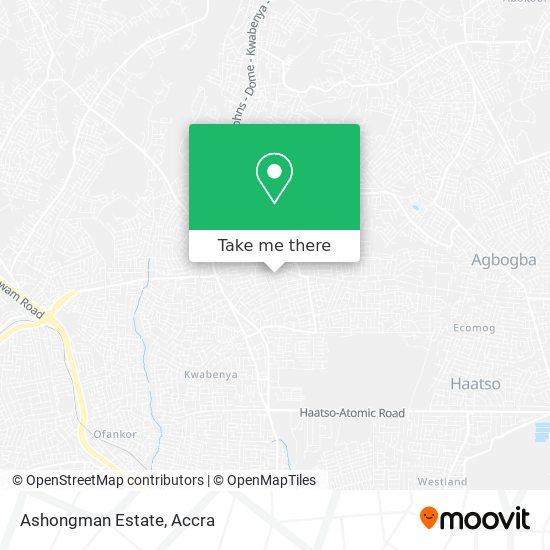 Ashongman Estate map