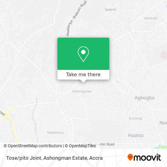 Tose / pito Joint, Ashongman Estate map