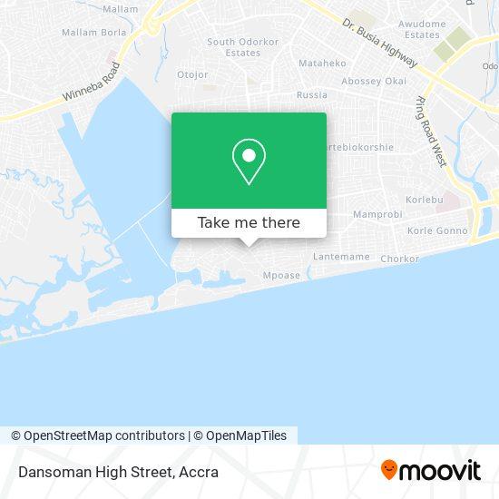 Dansoman High Street map