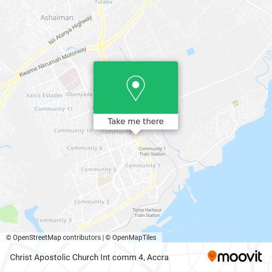 Christ Apostolic Church Int comm 4 map