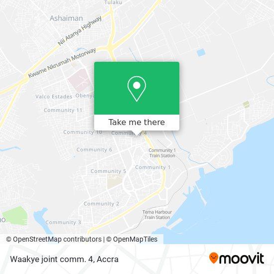 Waakye joint comm. 4 map