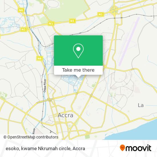 esoko, kwame Nkrumah circle map