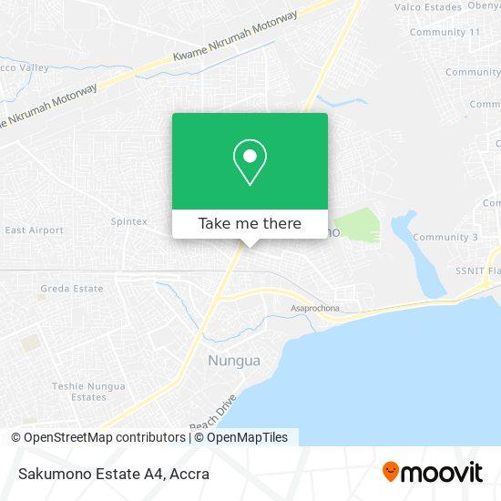 Sakumono Estate A4 map