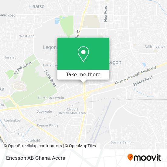 Ericsson AB Ghana map