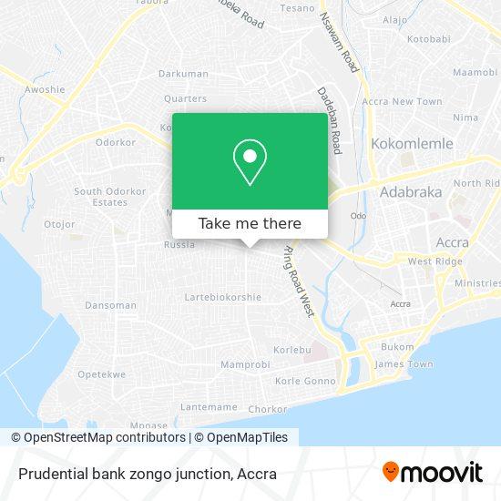 Prudential bank zongo junction map